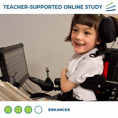 image of child using assistive technology